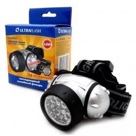 Фонарь налобный Ultra Flash 5352 (14 LED, 4 режима, 3*R3)