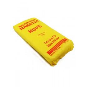 Пакет фасов. 18+8х35, 12мкм (евро желтый) ФНД429