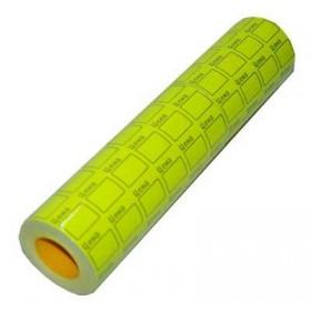 Ценник 25х38 желтый 601