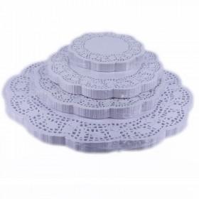 Салфетки ажурные круглые D=18cм (250шт).