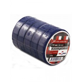 Изолента 15мм*10м, Klebebander синяя TIK555T