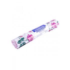 Скатерть 120 х 800 5шт/рул розовые розы