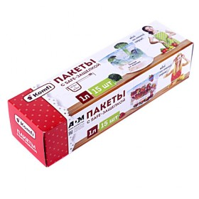 Пакеты для заморозки с safe защелкой 1л (15шт)