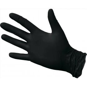 Перчатки нитриловые неопудренные чёрные М