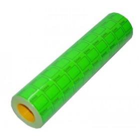 Ценник 25х38 зеленый 601