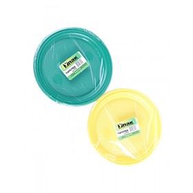 Тарелка d 205 цветная (10шт) УПАК