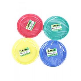 Тарелка d 165 цветная (10шт) УПАК