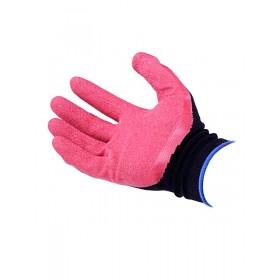 Перчатки нейлоновые со вспененным латексом сине/черные,черно/серые