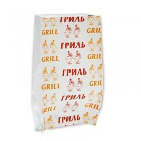 Пакет бумажный ламиниров. для кур-гриль с печатью 190+60х300