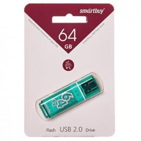 Флеш-накопитель 64GB Smart Buy Glossy зелен..