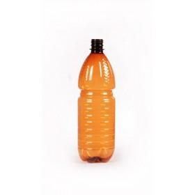 Бутылка  ПЭТ+ крышка 1,0л коричневая Упак