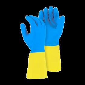 Перчатки латексные  хозяйственные Bicolor М