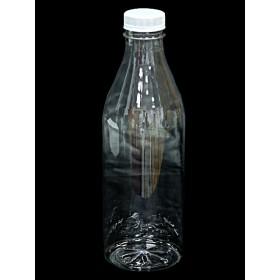 Бутылка  ПЭТ+ крышка 1,0л широкое горло (38мм) Упак