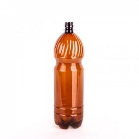 Бутылка  ПЭТ+ крышка 1,5л коричневая Упак