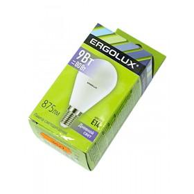 Лампа светодиодн. Ergolux LED G45-9W-Е14-6500К (дневной свет, шарик)