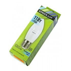 Лампа светодиодн. Ergolux LED C35-11W-Е27-4500К (холодный свет, свечка)