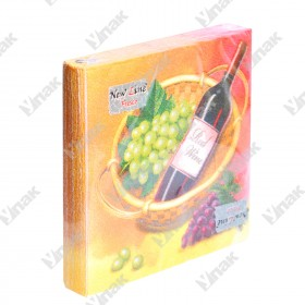 Салфетка 20шт 33 х 33см. 2сл. Вино и виноград