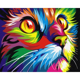 Картины по номерам в ассортименте (формат 50х40) Радужный кот ZX20237