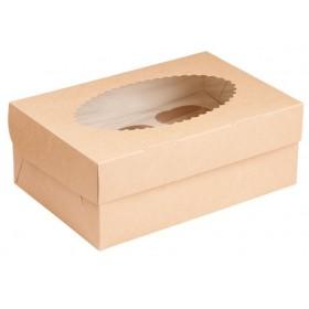 Коробка 250х170х100мм Eco MUF6, коричн/белый с окном