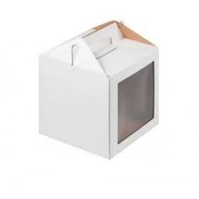 Коробка 220х220х160мм   с  ручкой