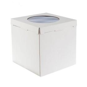 Коробка 300х300х300мм ЕВ300 белая с окном