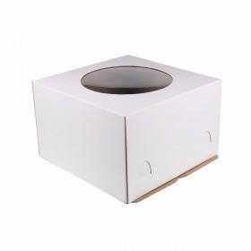 Коробка 300х300х190мм ЕВ190 белая с окном