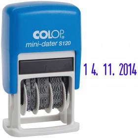 Датер-мини Color 3.8 мм (месяц цифрами) арт.S120/BL Bank (163200)