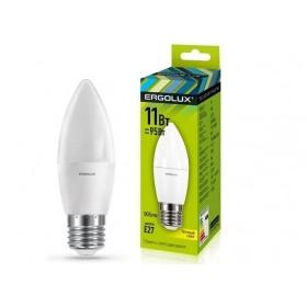 Лампа светодиодн. Ergolux LED C35-11W-Е14-4500К (холодный свет, свечка)
