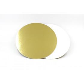 Подложка под торт D=300 золото-жемчуг усиленная