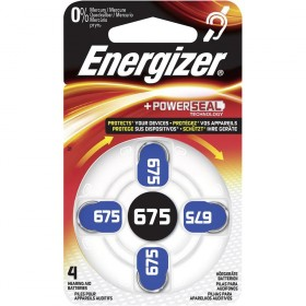 Элемент питания Energizer Zinc Air 675 слуховые