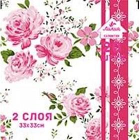 Салфетка 20шт 33 х 33см. 2сл. Цветочный роман