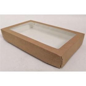 Коробка 260х150х40мм Eco tabox pro 1450gl с окном коричн.
