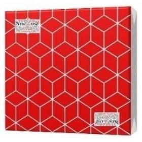 Салфетка 20шт 33 х 33см. 2сл. Кубики 3D Красные