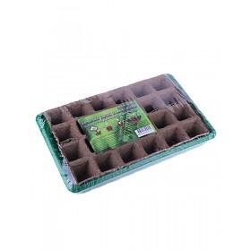 Комплект с торфяными горшочками (24шт. 50х50 + лоток)