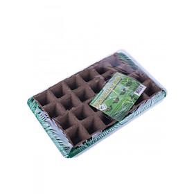 Минипарник с торфяными горшочками (24шт. 50х50 + лоток + крышка)