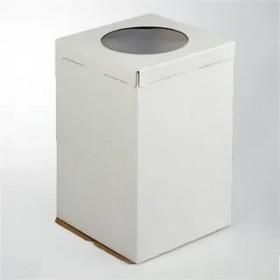 Коробка 300х300х450мм ЕВ450 белая с окном
