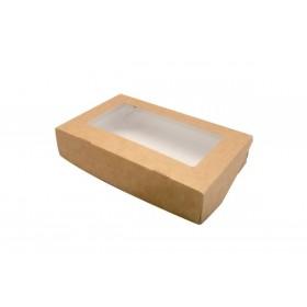 Коробка 165х70х40мм Eco tabox 500gl с окном коричн.